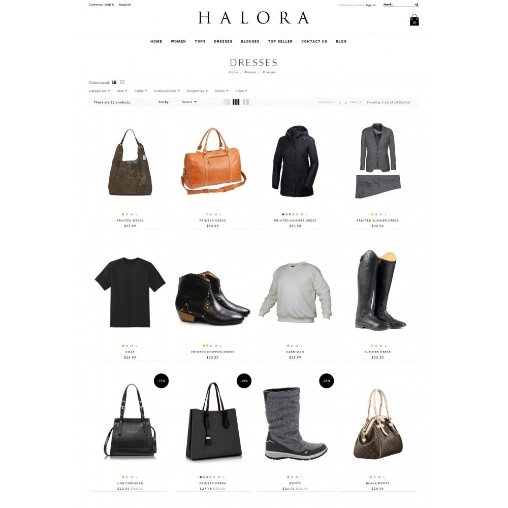 theme - Fashion & Shoes - Halora Fashion Store - 4