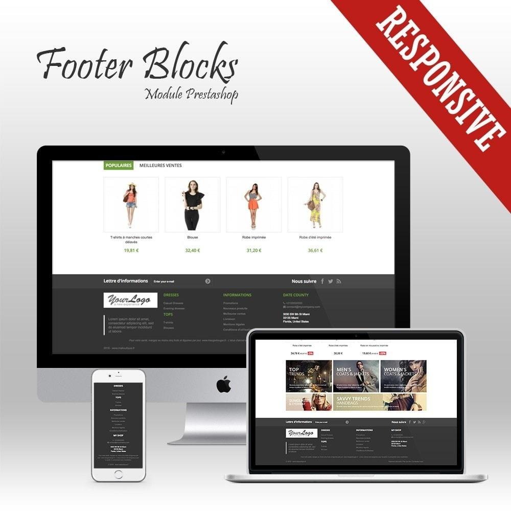 module - Personnalisation de Page - Footer Blocks - Pieds de page personnalisable - 1
