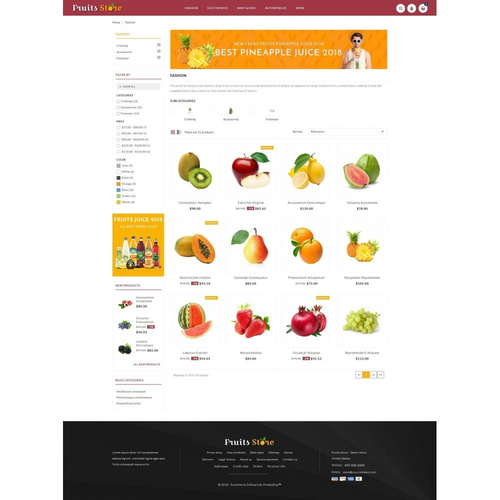 theme - Eten & Restaurant - Fruits Store - 3
