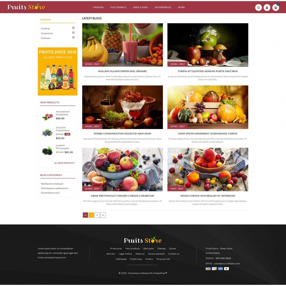 theme - Alimentation & Restauration - Fruits Store - 9