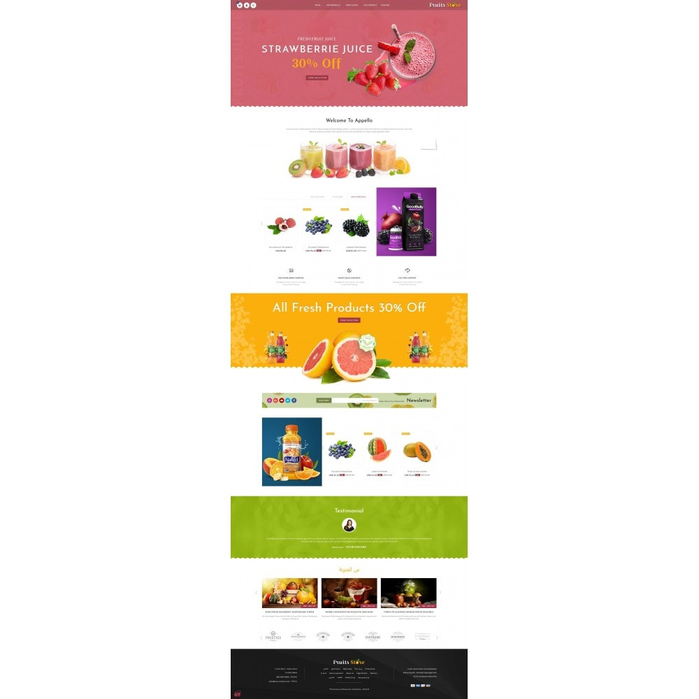 theme - Alimentation & Restauration - Fruits Store - 10