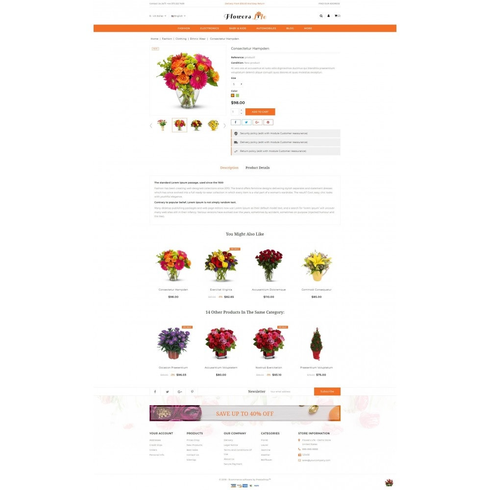 theme - Gifts, Flowers & Celebrations - Flowers Store - 5