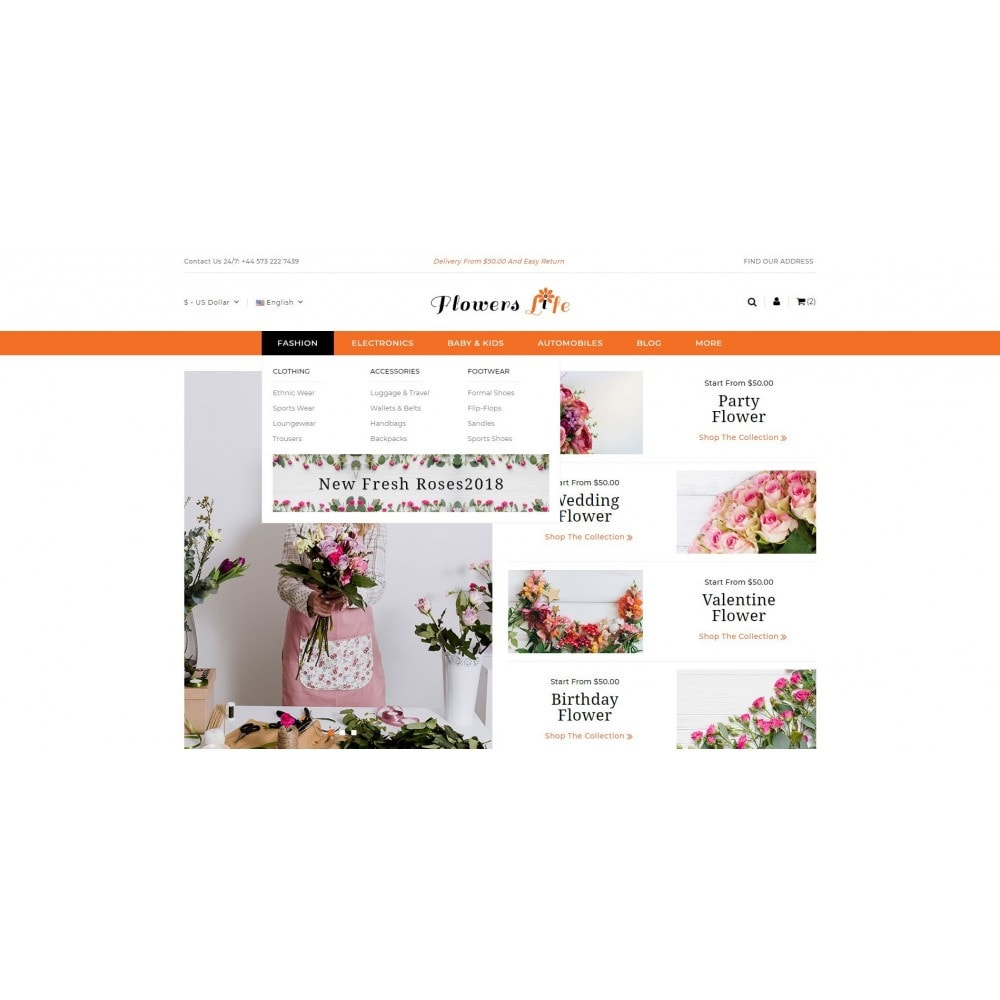 theme - Gifts, Flowers & Celebrations - Flowers Store - 6