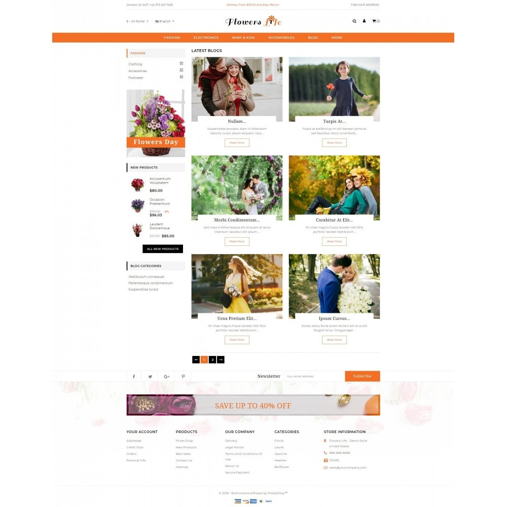 theme - Gifts, Flowers & Celebrations - Flowers Store - 9