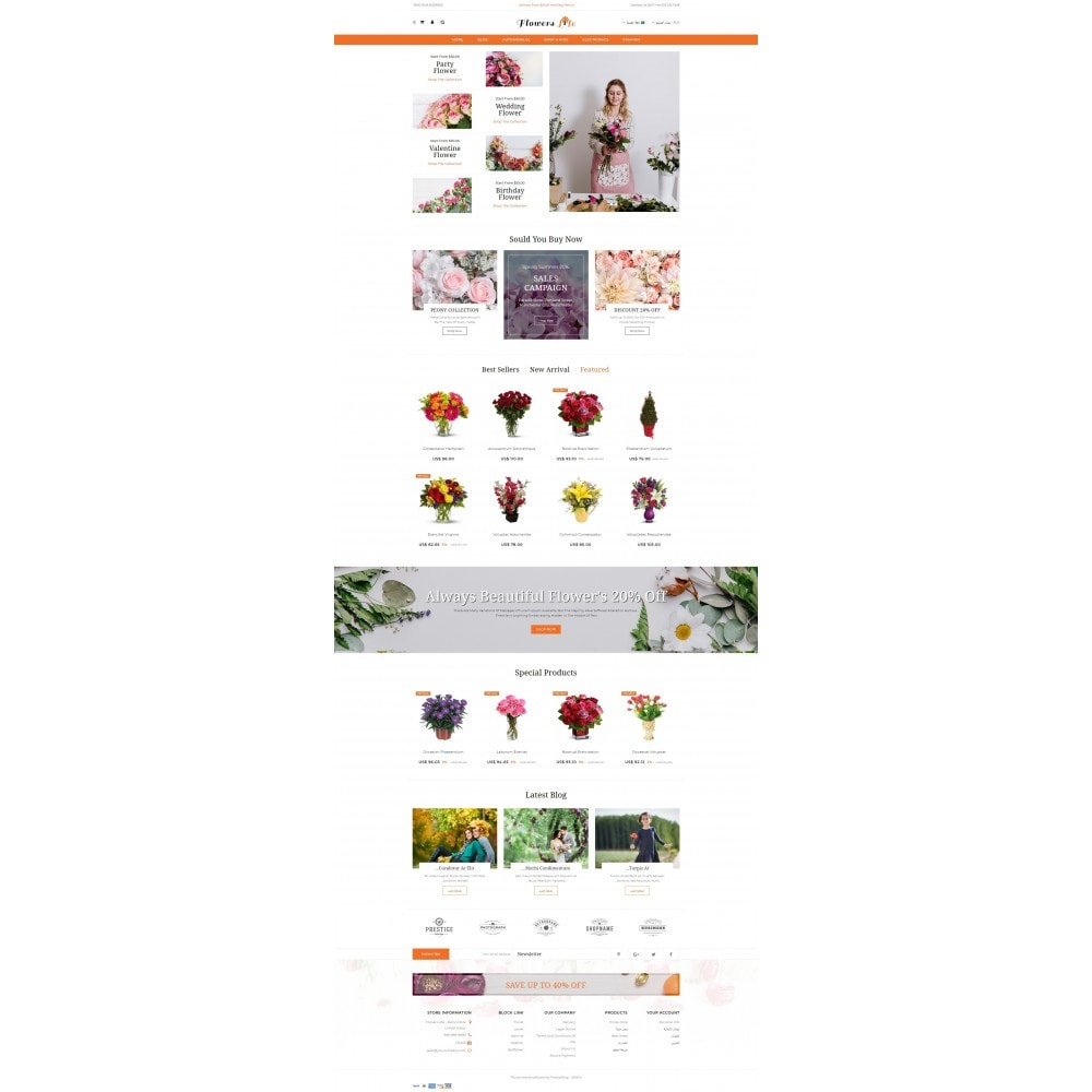 theme - Gifts, Flowers & Celebrations - Flowers Store - 10