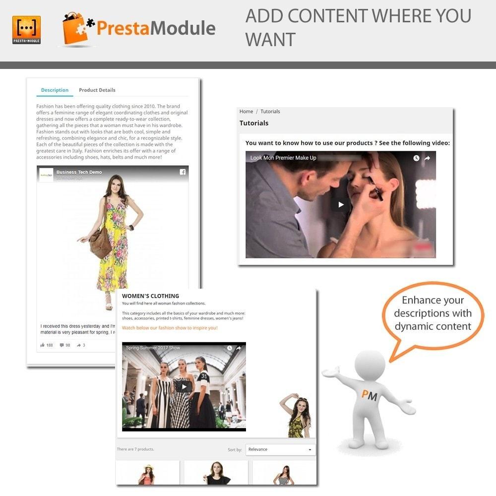 module - Personalizacja strony - Advanced Shortcode - Add video, post, link, brand,... - 1