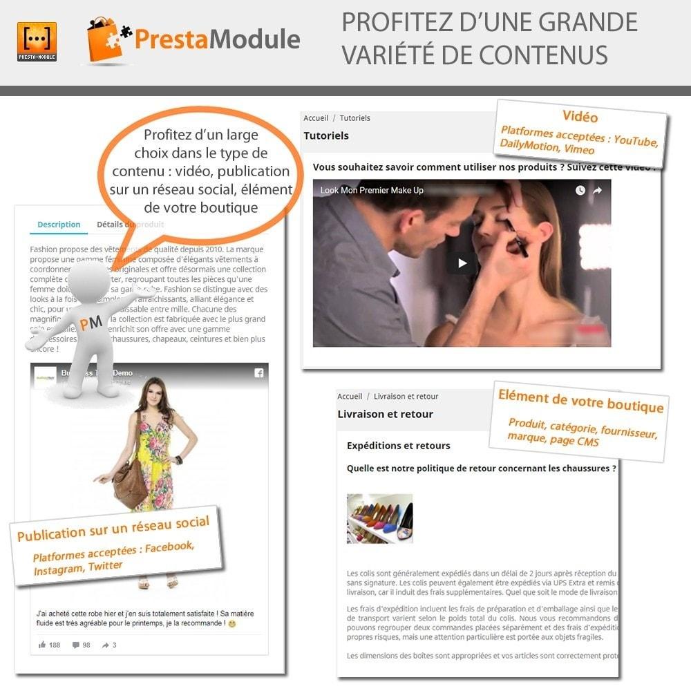 module - Personnalisation de Page - Advanced Shortcode - Ajout de vidéos, posts, liens,... - 2