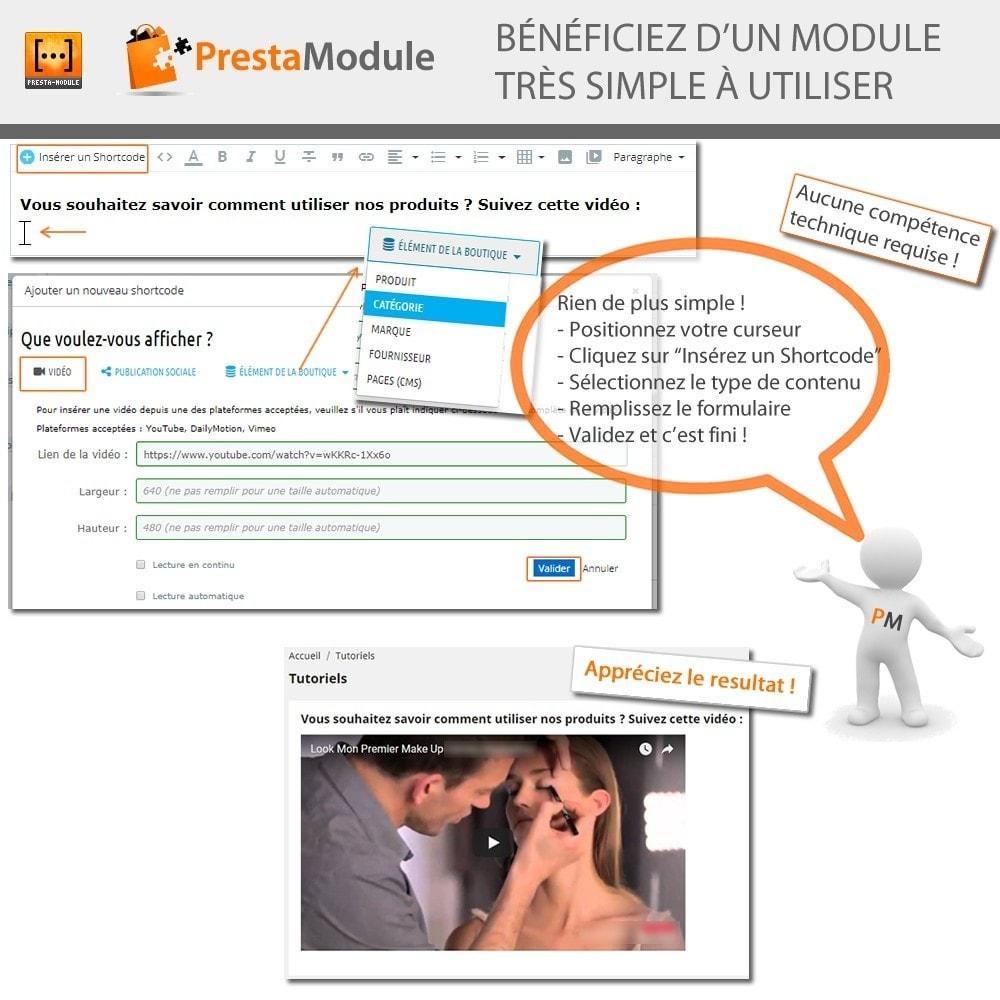 module - Personnalisation de Page - Advanced Shortcode - 3