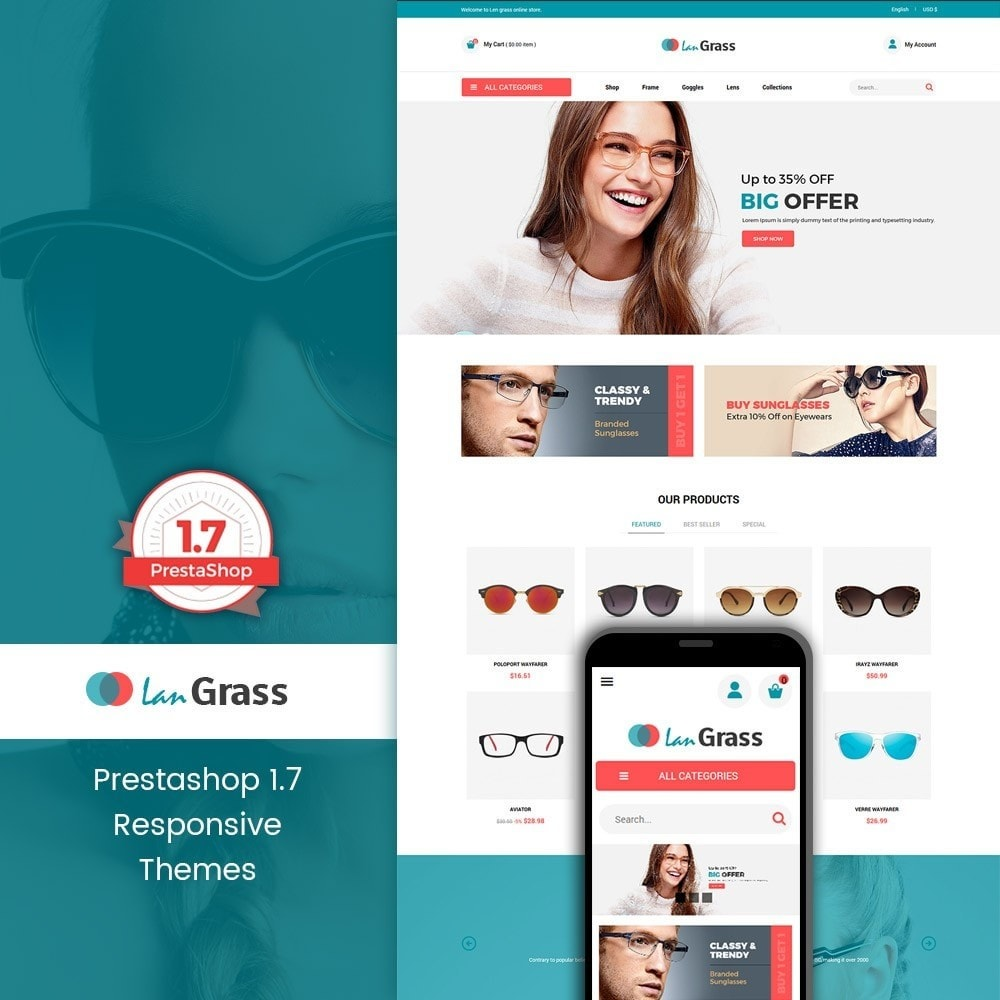theme - Мода и обувь - Lan Grass Fashion Store - 1
