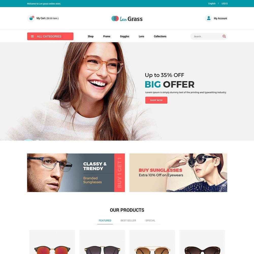 theme - Mode & Chaussures - Lan Grass Fashion Store - 2