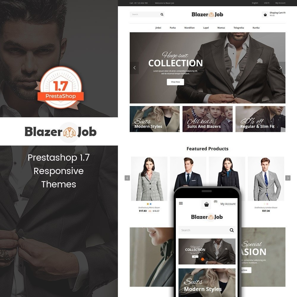 theme - Mode & Schoenen - Blazerjob Fashion Store - 1