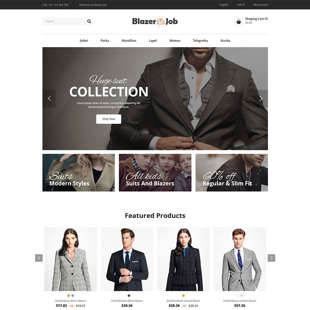 theme - Mode & Schoenen - Blazerjob Fashion Store - 2