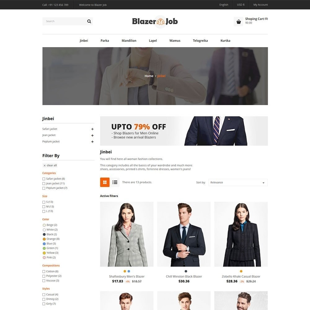 theme - Mode & Schoenen - Blazerjob Fashion Store - 3