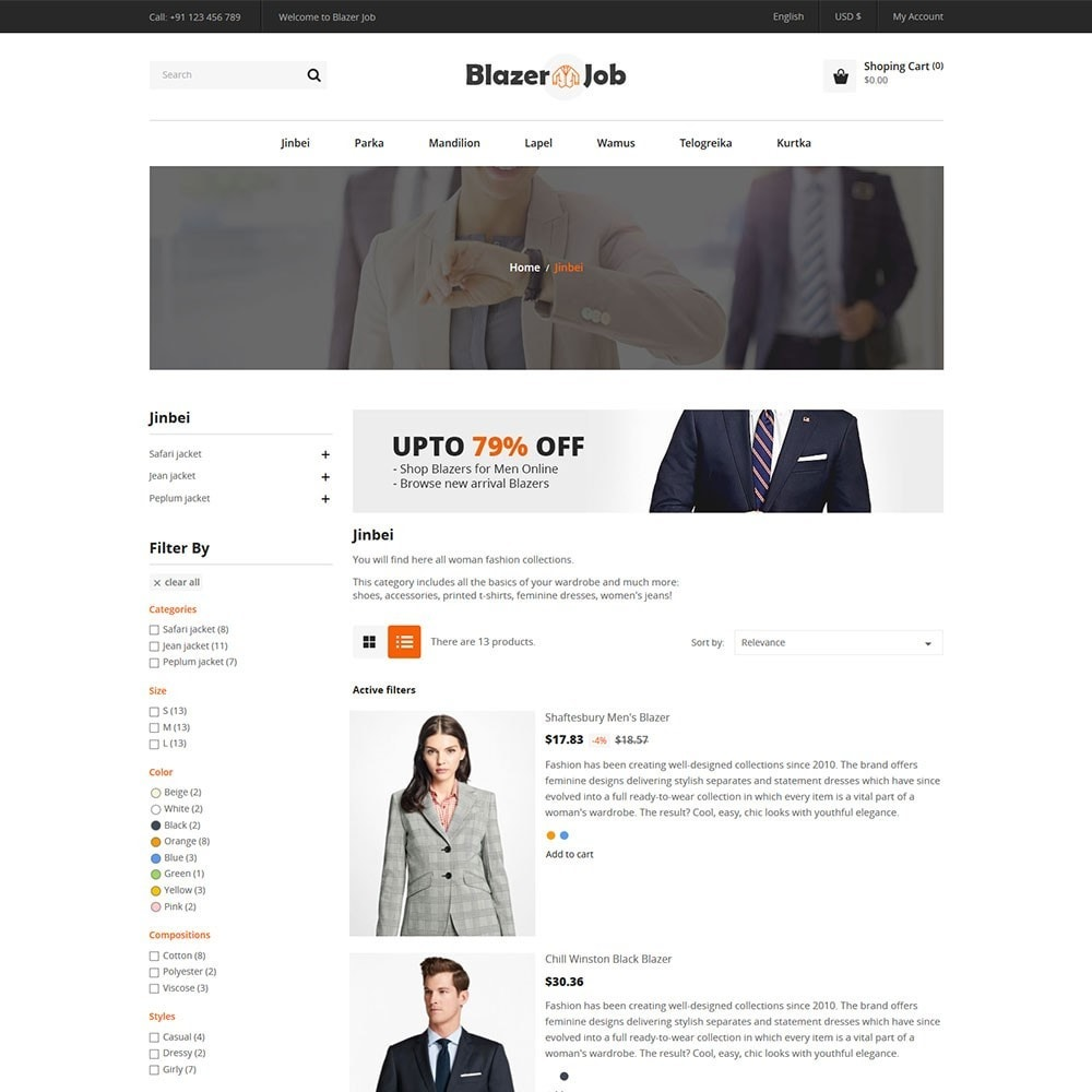 theme - Mode & Schoenen - Blazerjob Fashion Store - 4