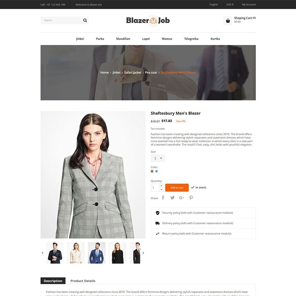 theme - Mode & Schoenen - Blazerjob Fashion Store - 5