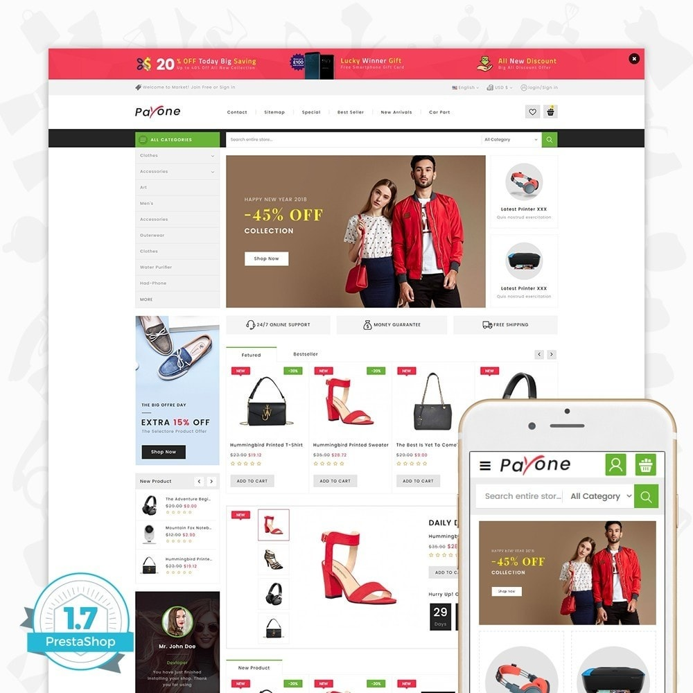theme - Fashion & Shoes - PayOne - The MultiStore - 1
