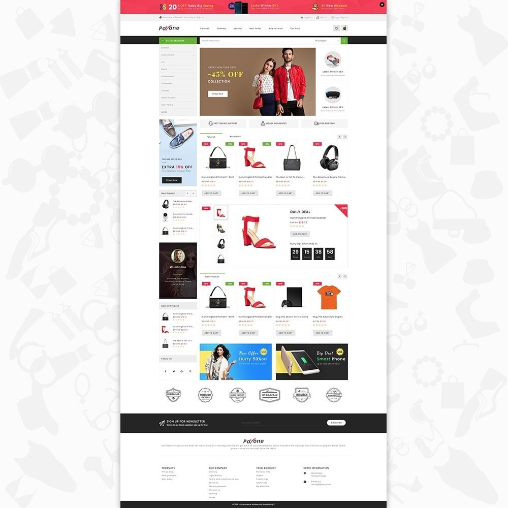 theme - Fashion & Shoes - PayOne - The MultiStore - 2