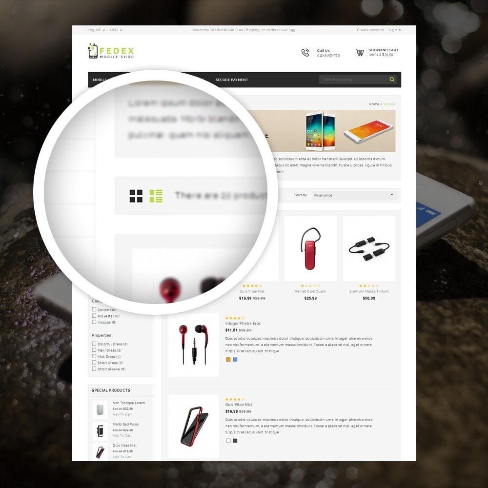 theme - Eletrônicos & High Tech - Fedex - Mobile Shop - 3