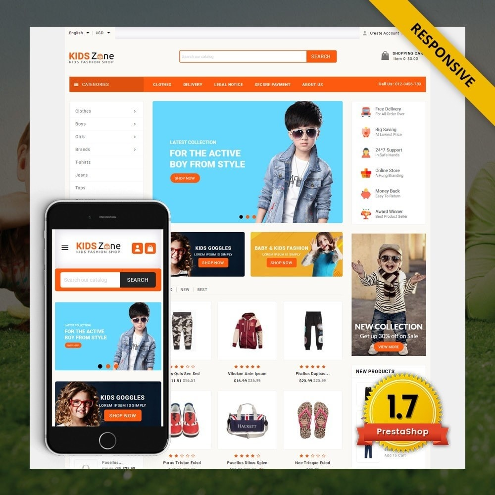 theme - Дети и Игрушки - KidsZone  - Kids Fashion Store - 1