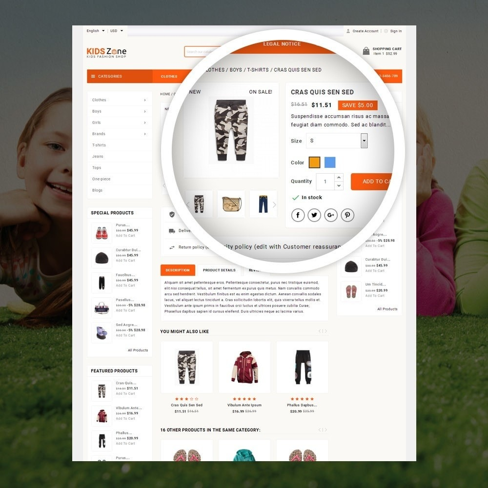 theme - Дети и Игрушки - KidsZone  - Kids Fashion Store - 4