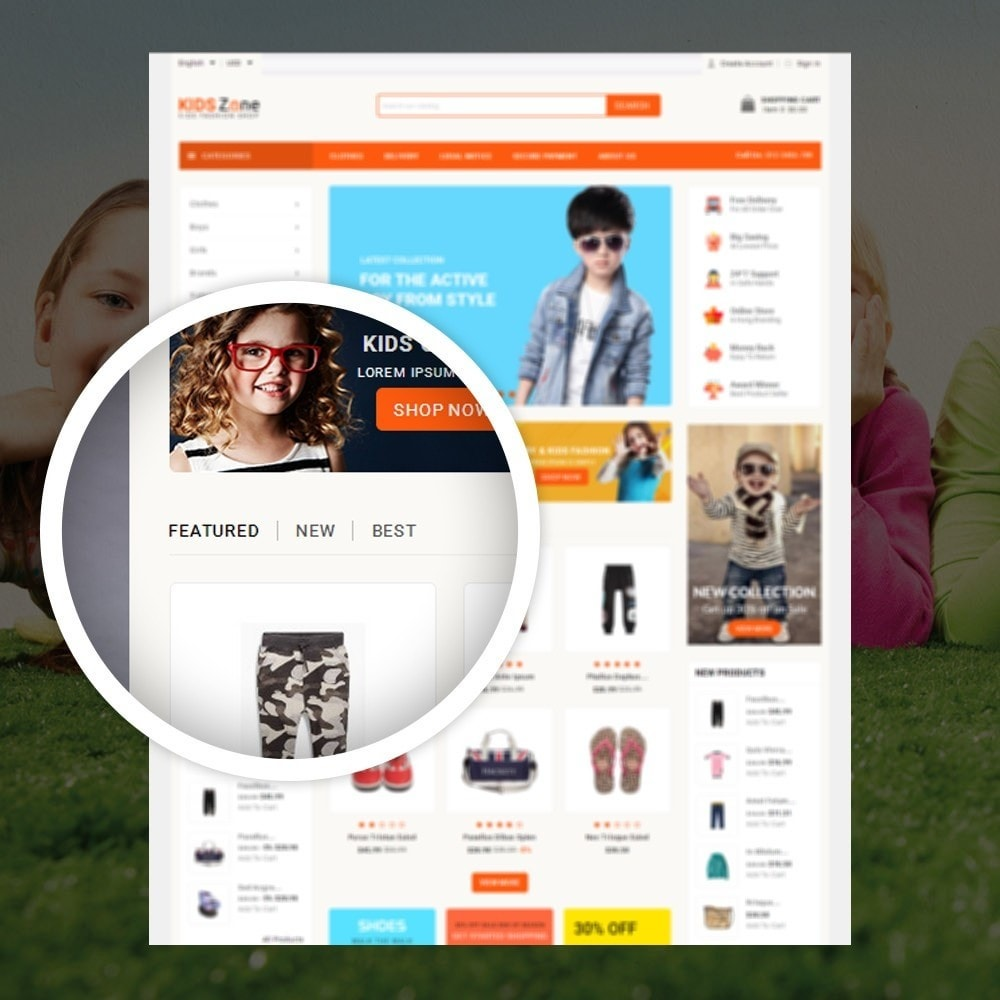 theme - Дети и Игрушки - KidsZone  - Kids Fashion Store - 9