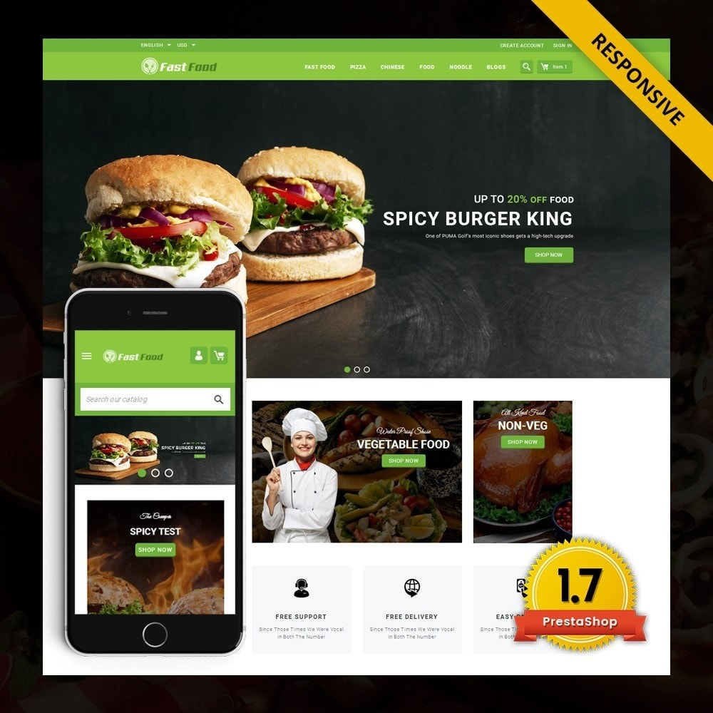 theme - Alimentation & Restauration - FastFood - Food Store - 1