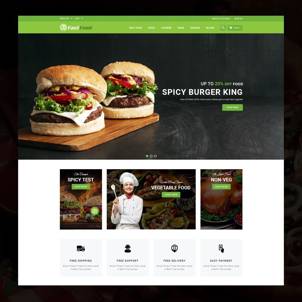 theme - Alimentation & Restauration - FastFood - Food Store - 2