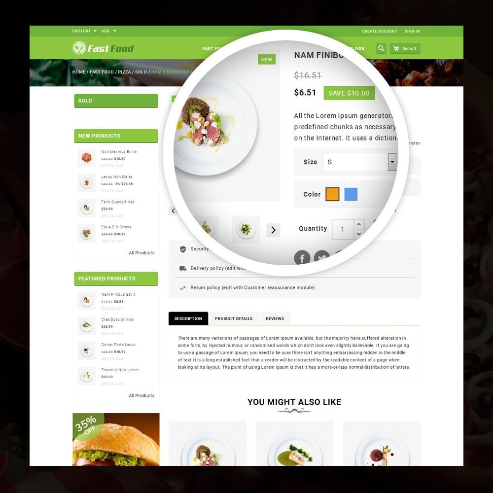 theme - Alimentation & Restauration - FastFood - Food Store - 4
