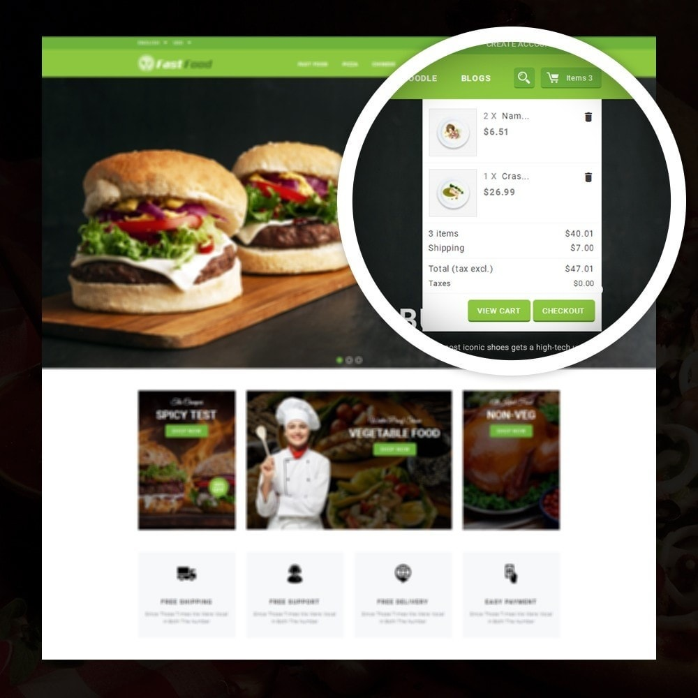 theme - Alimentation & Restauration - FastFood - Food Store - 6