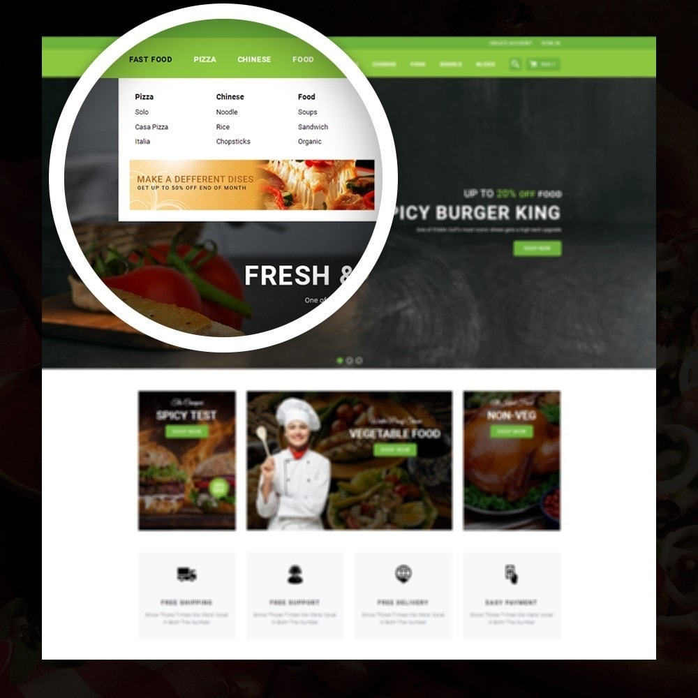 theme - Alimentation & Restauration - FastFood - Food Store - 7