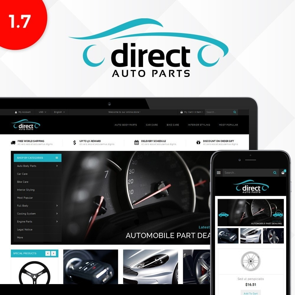 theme - Automotive & Cars - Direct AutoPart Store - 1