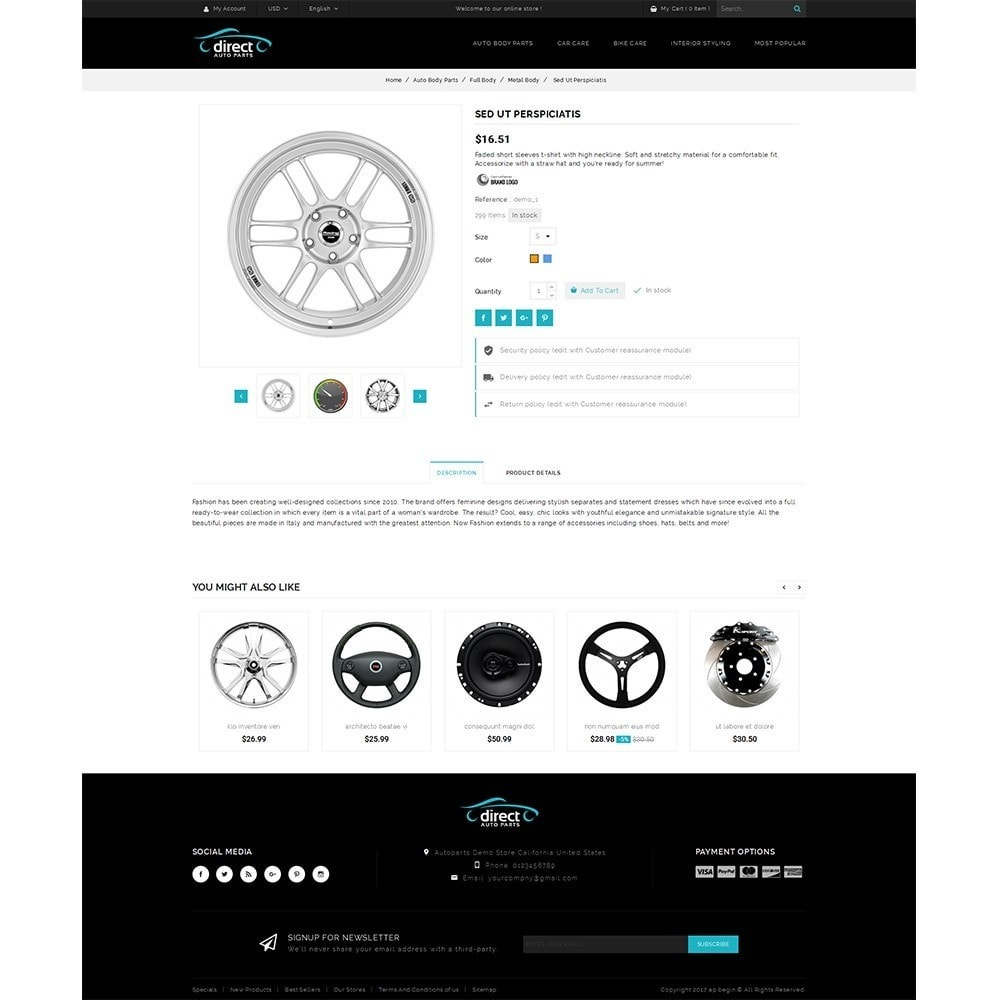 theme - Automotive & Cars - Direct AutoPart Store - 5