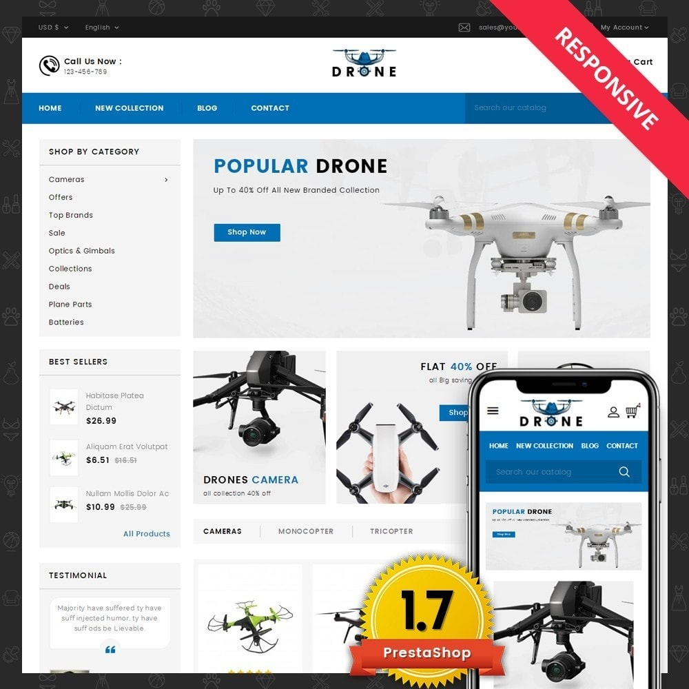 theme - Electronique & High Tech - Drone Online Store - 1