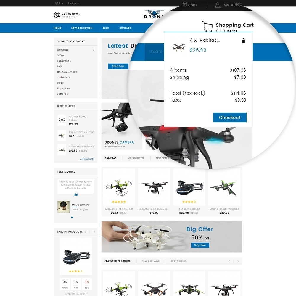 theme - Electronique & High Tech - Drone Online Store - 5