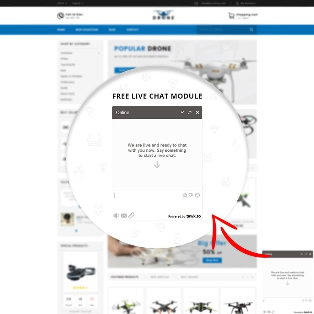 theme - Electronique & High Tech - Drone Online Store - 7