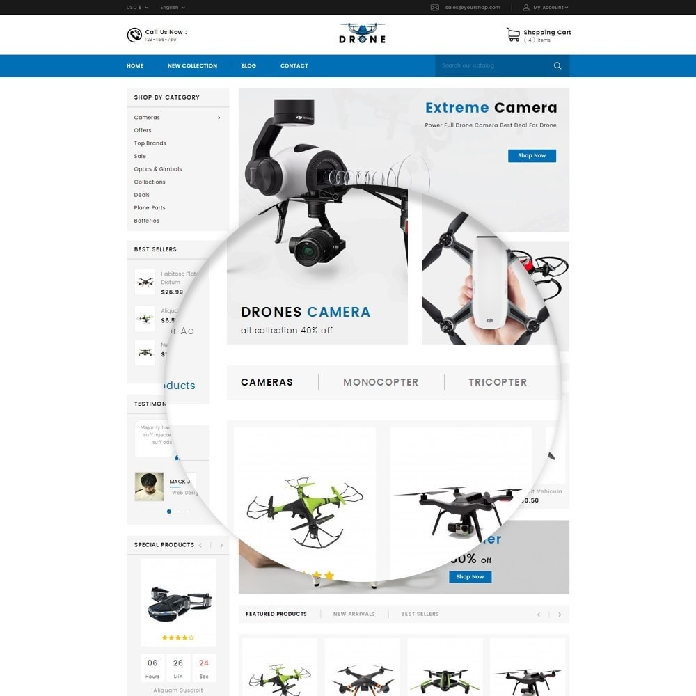 theme - Electronique & High Tech - Drone Online Store - 8