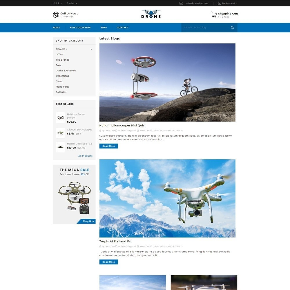 theme - Electronique & High Tech - Drone Online Store - 9