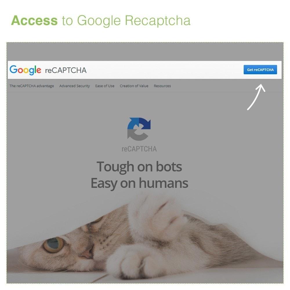 module - Security & Access - reCaptcha Modulo di iscrizione e contatto - Anti spam - 4