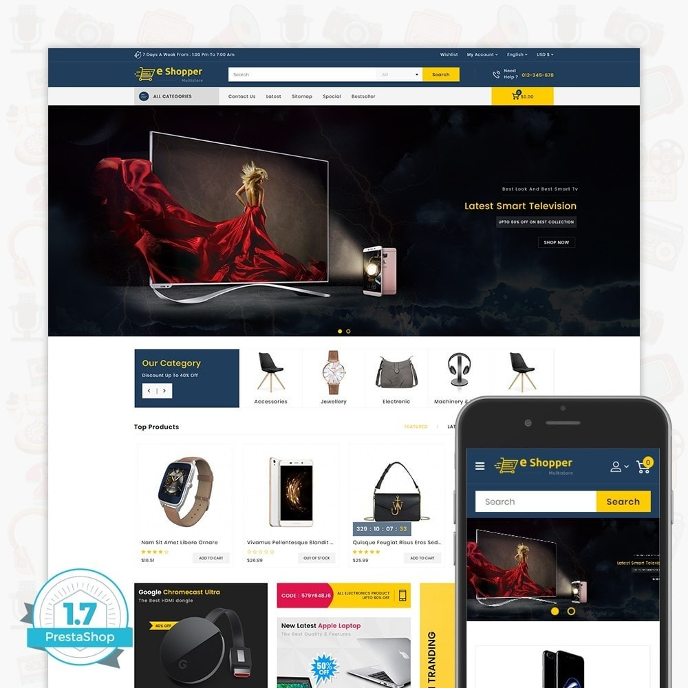 theme - Fashion & Shoes - eShopper - The Multi Store - 1