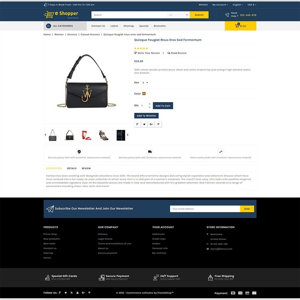 theme - Fashion & Shoes - eShopper - The Multi Store - 5