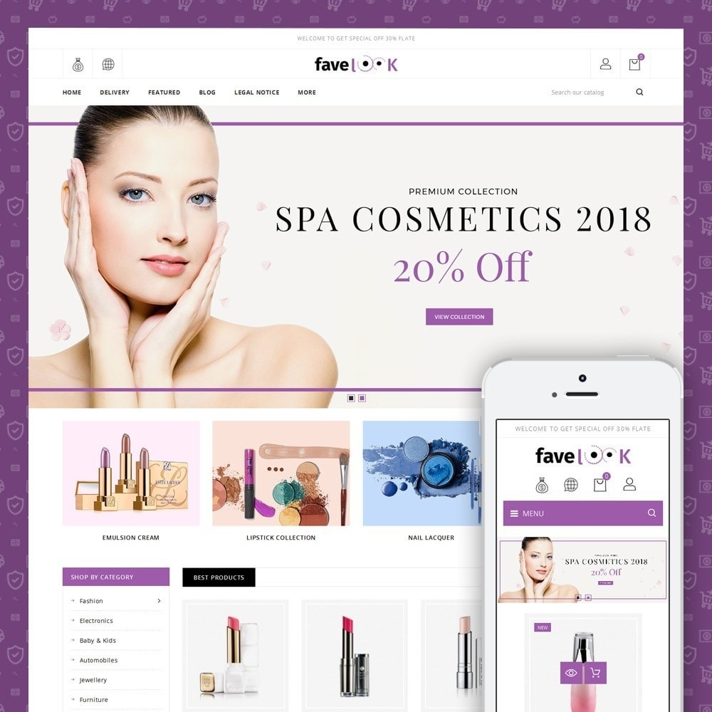 theme - Salute & Bellezza - Fave Look - Cosmetic Store - 1