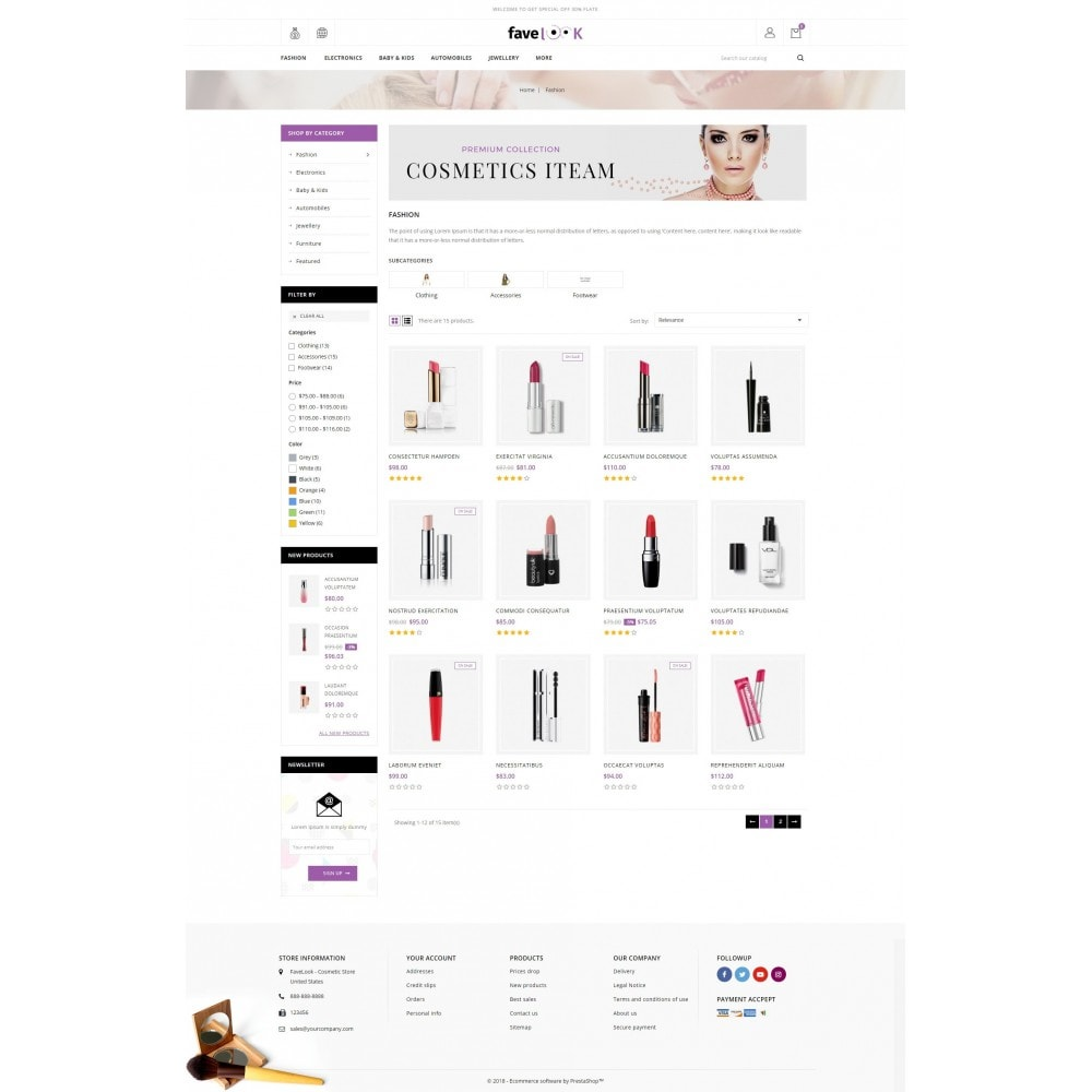 theme - Salute & Bellezza - Fave Look - Cosmetic Store - 3