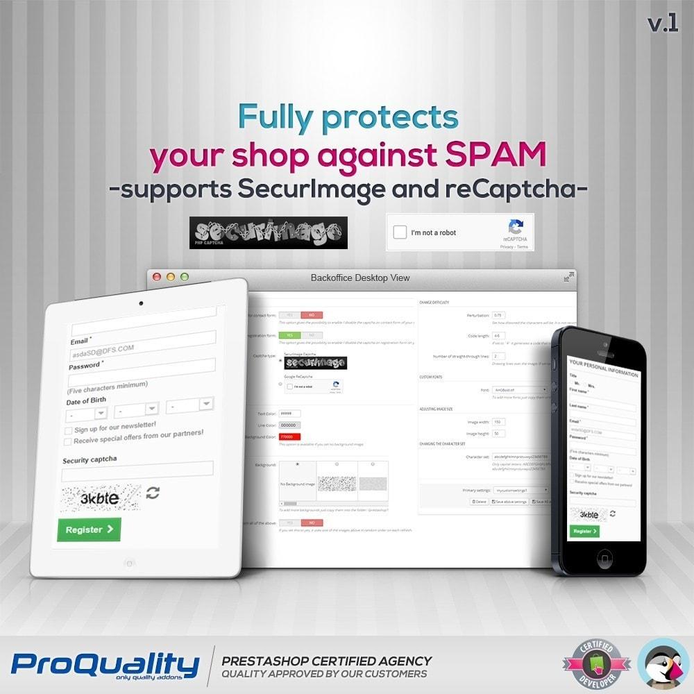 module - Bezpieczeństwa & Dostępu - CAPTCHA Pro - 2