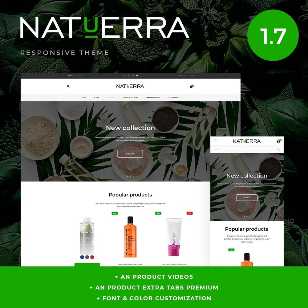 theme - Zdrowie & Uroda - Natuerra Cosmetics - 1
