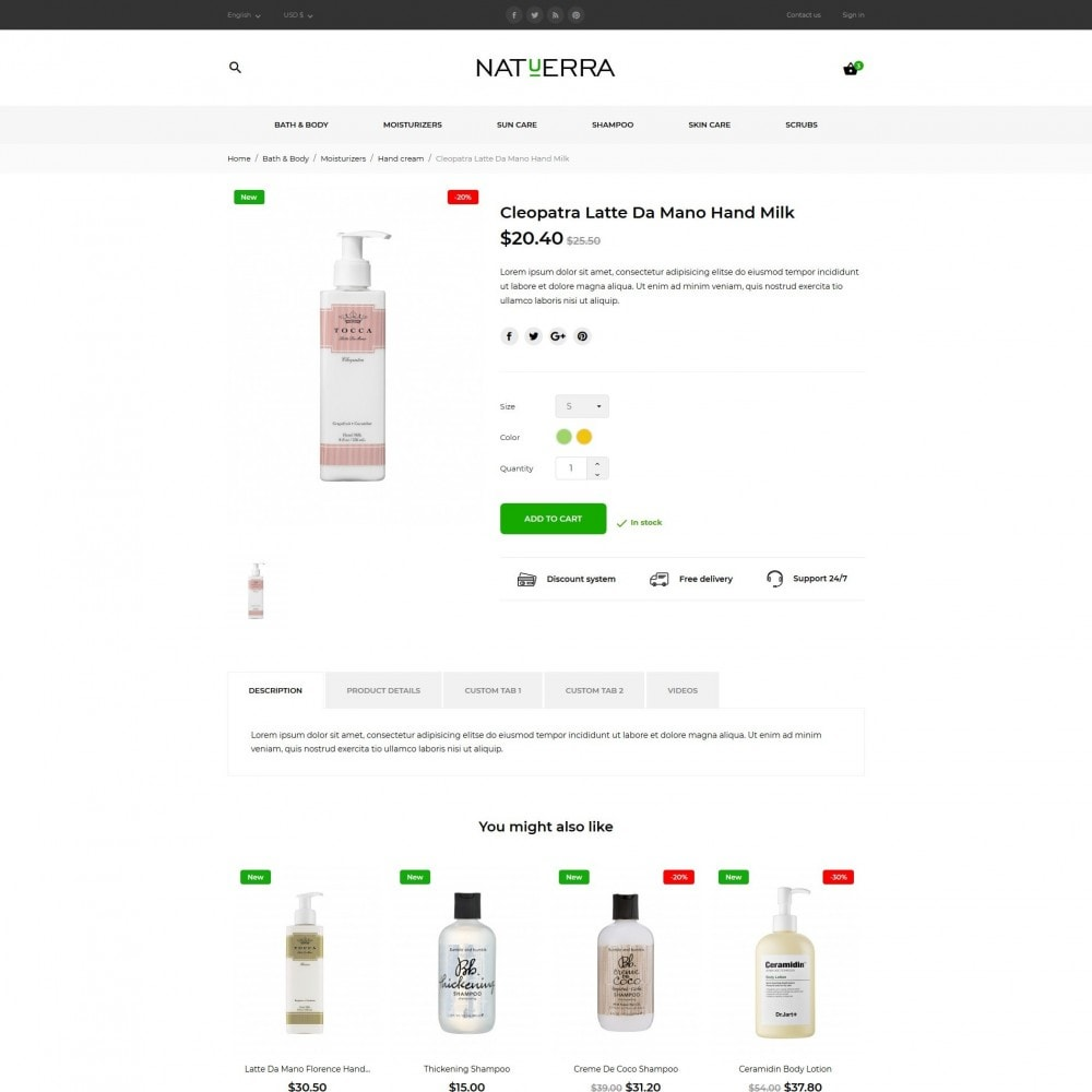 theme - Zdrowie & Uroda - Natuerra Cosmetics - 8