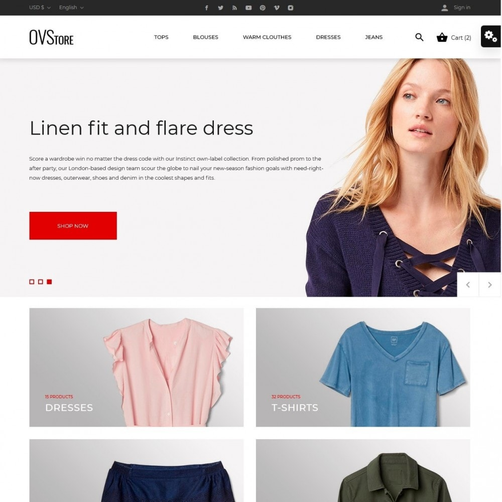 theme - Moda & Calzature - OVStore Fashion Store - 2