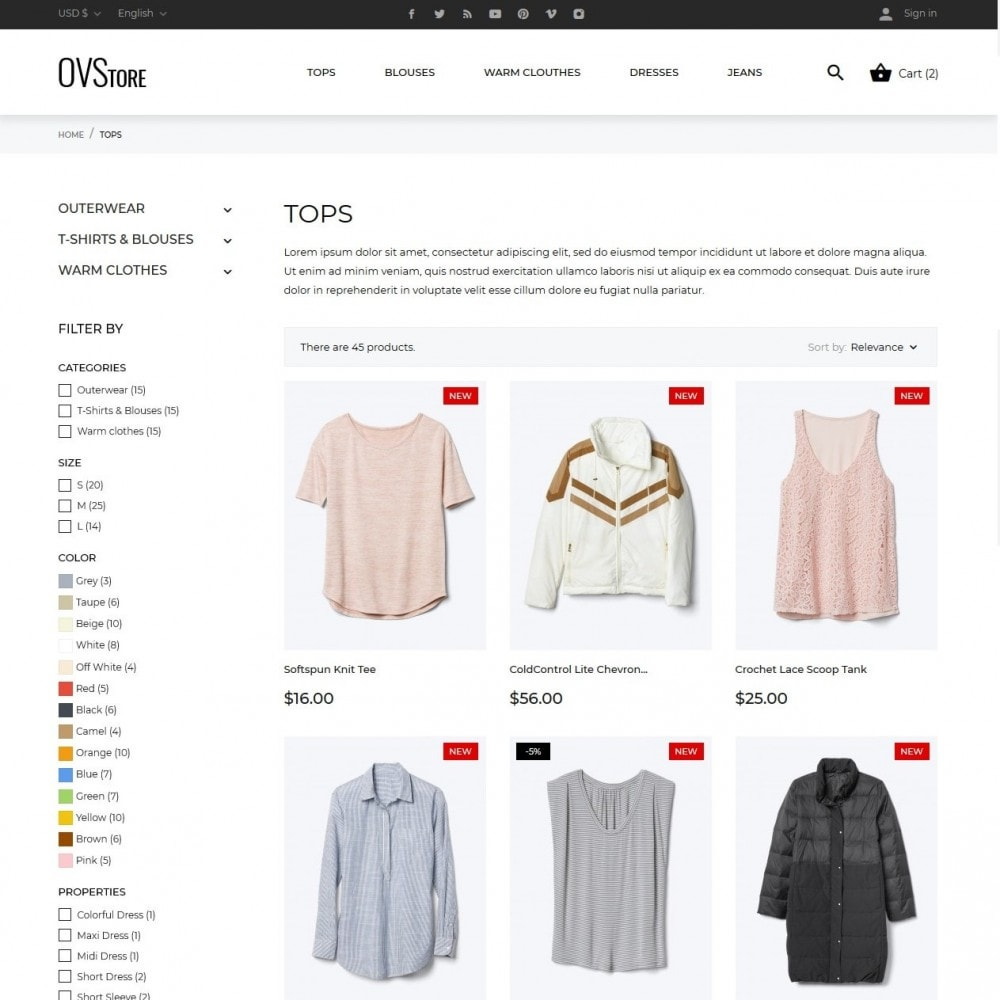 theme - Moda & Calzature - OVStore Fashion Store - 5