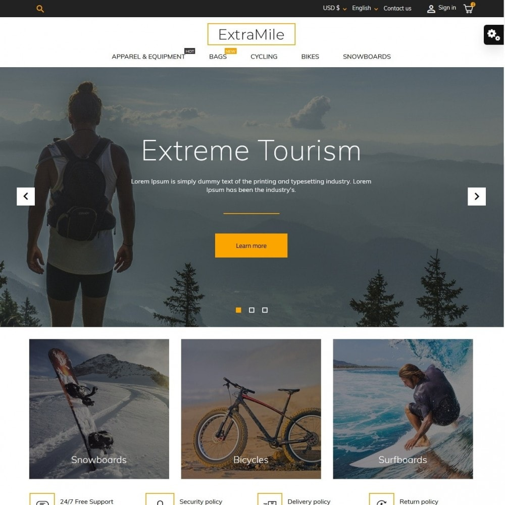 theme - Sports, Activities & Travel - ExtraMile - 2