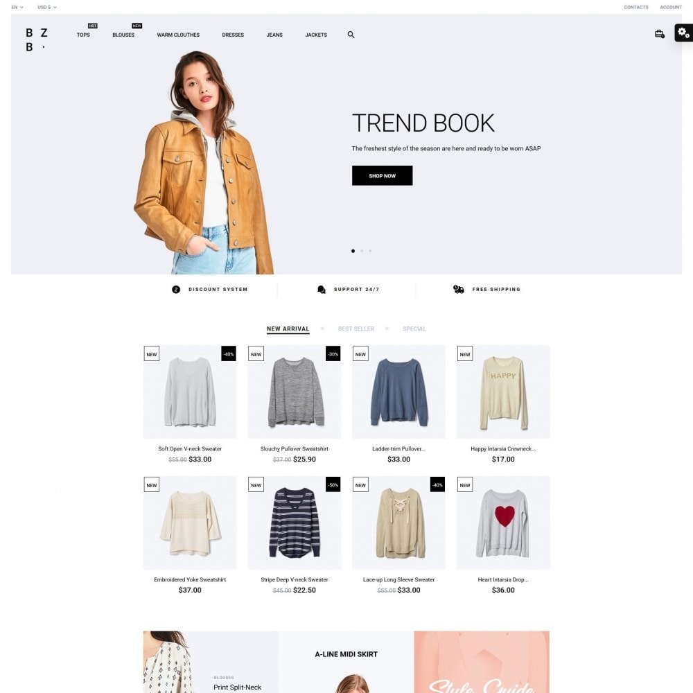 theme - Мода и обувь - BZB Fashion Store - 2