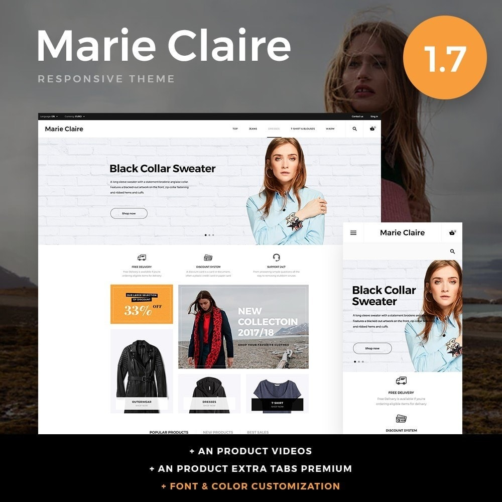theme - Fashion & Shoes - Marie Claire Fashion Store - 1